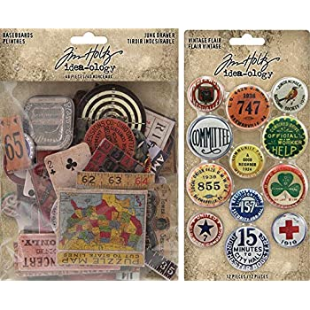 Baseboard Embellishments Tim Holtz idea-ology Junk Drawer Chipboard
