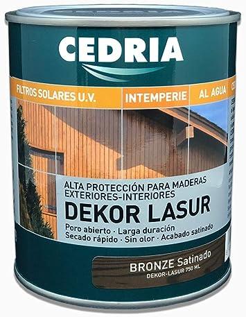 Lasur protector madera exterior al agua Cedria Dekor Lasur 4 litros (Blanco Tráfico)