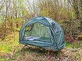 Semptec Urban Survival Technology Zeltliege: 4in1-Zelt mit Feldbett, Sommer-Schlafsack und Matratze (Liege mit Zelt) - 9