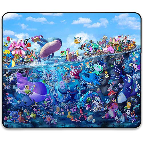 Pokemon Pikachu Mouse Pad - Kawaii Cute Comic Manga Anime Mouse Pads Mats for Girls,Kids Non-Slip Natural Rubber Base, Enhance Thickness, Waterproof, Gaming Mouse Pad for Laptop