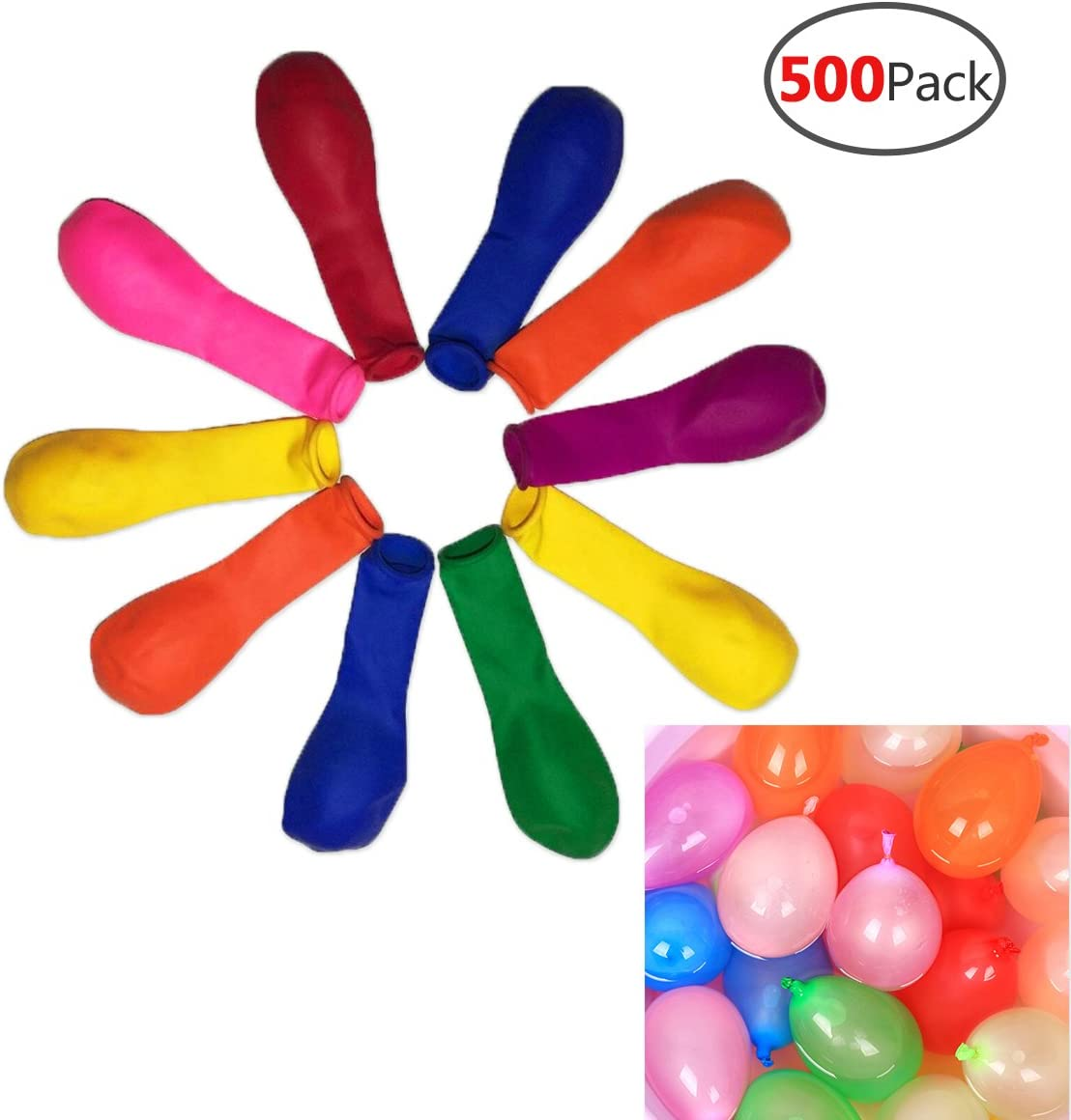 Crochet Ecofriendly Water Balloons Reusable Water Balloons Pool Accessory Colorful Birthday Party Favor Water Bombs Summer Fun for Kids