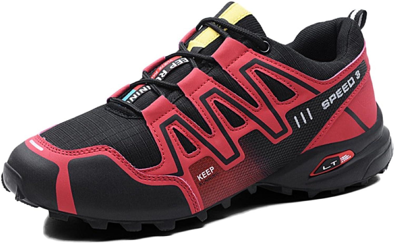 ASJUNQ Sports Non-Slip Running shoes Mesh Climbing Wear,Red-40