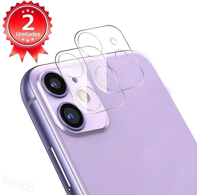 G-Color Protector Cámara/Cámara Trasera Lente iPhone 11 [2 Unidades] [Alta definición] [2.5D 0.2mm] [9H de Dureza] Cristal Vidrio Templado para iPhone 11