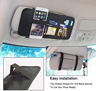 PICKVILL Deluxe Sun Visor with Non Slip Elastic Crisscrossing Straps for Electronic Gadgets,Cosmetics Tool,Mobile Accessories,Sunglasses,Black