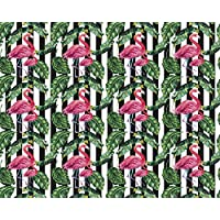 OhPopsi WALS0417 Exotic Flamingo in Leaves Wall Mural