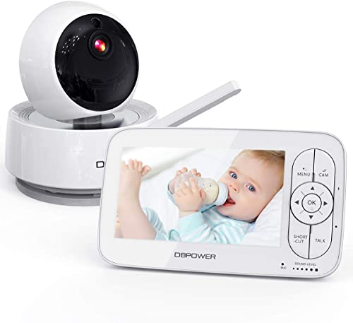 """2021 Video Baby Monitor, 1080P 5"""" HD Display Baby Monitor with wholesale Camera and Audio, Night Vision, Two-Way Audio, Up to new arrival 900ft of Range by DBPOWER online sale"""