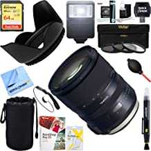 Tamron (AFA032C-700) SP 24-70mm f/2.8 Di VC USD G2 Lens for Canon Mount, 64GB Ultimate Filter and Flash Photography Bundle
