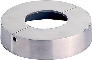 Edelstahl V2A, 85 x 42,4 mm Edelstahl Abdeck Rosette Rohr Gel/änderpfosten Abdeckung Gel/änderpfosten 2 St/ück