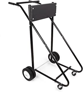 Three T Boat Motor Stand Cart Dolly Storage Carrier 315 LBS Heavy Duty Outboard Boat Motor Stand Carrier Pro
