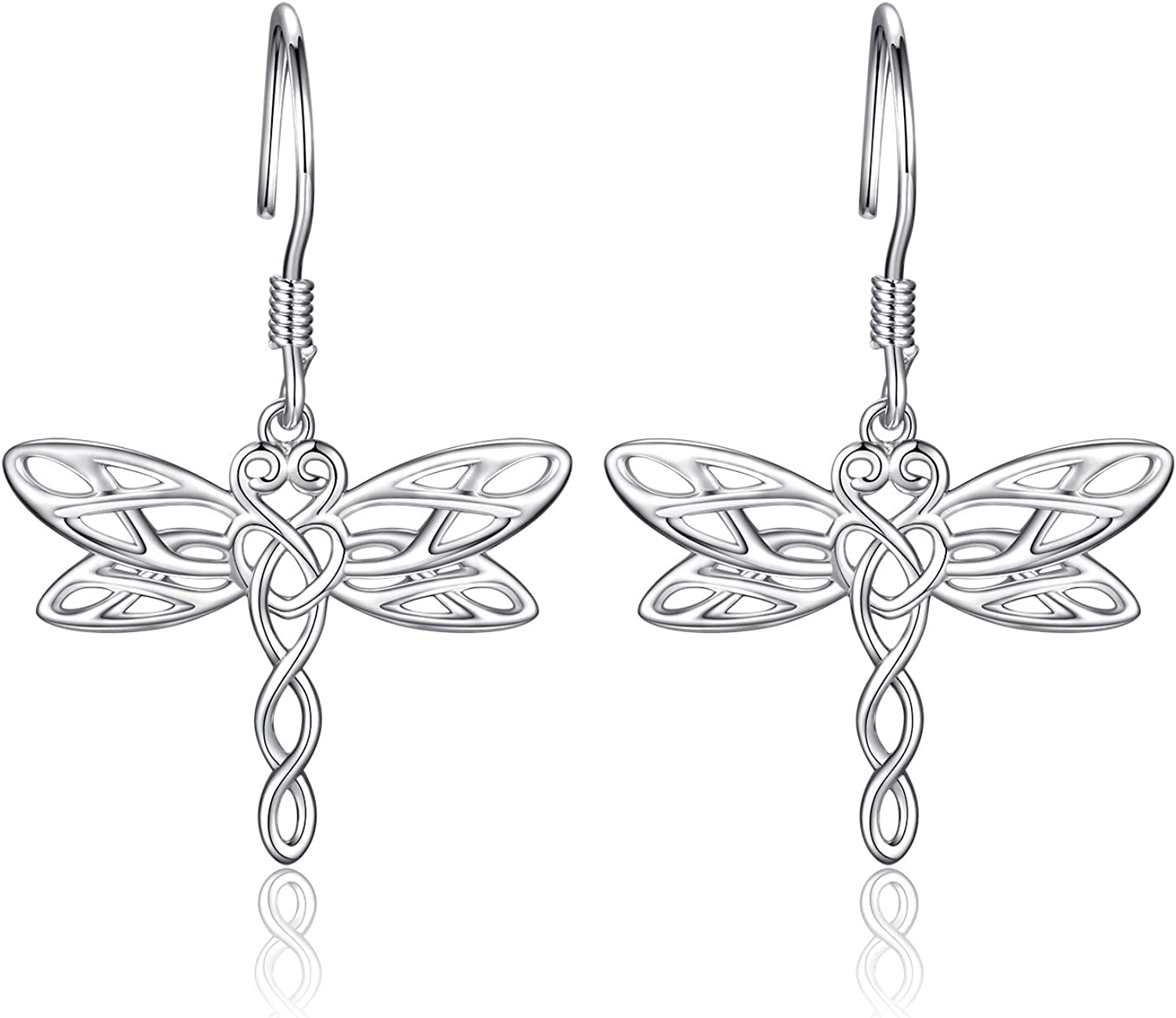 Celtic Dragonfly Jewelry Max 73% OFF Set Chicago Mall Necklace Earrings -