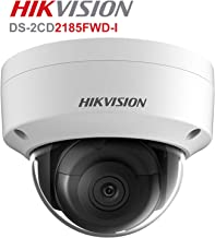 Hikvision 8MP Dome IP Camera , DS-2CD2185FWD-I High Resolution Security Camera Outdoor H.265+ IP67 firmware upgradeable International Version (2.8mm lens)