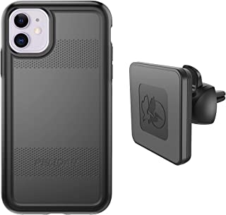 Pelican iPhone 11 Case, Protector Series – Military Grade Drop Tested, TPU, Polycarbonate Protective Case for Apple iPhone 11 - with EMS Wireless Charging Vent Mount (Black)