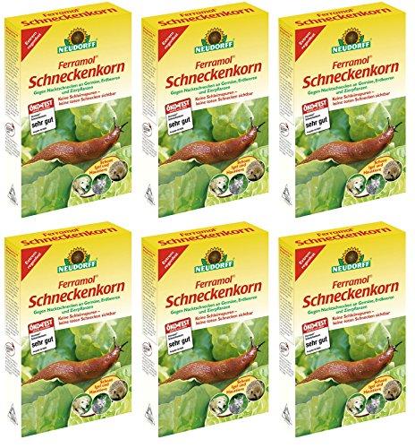 6 x 2 kg Neudorff Ferramol Schneckenkorn + Zeckenzange mit Lupe