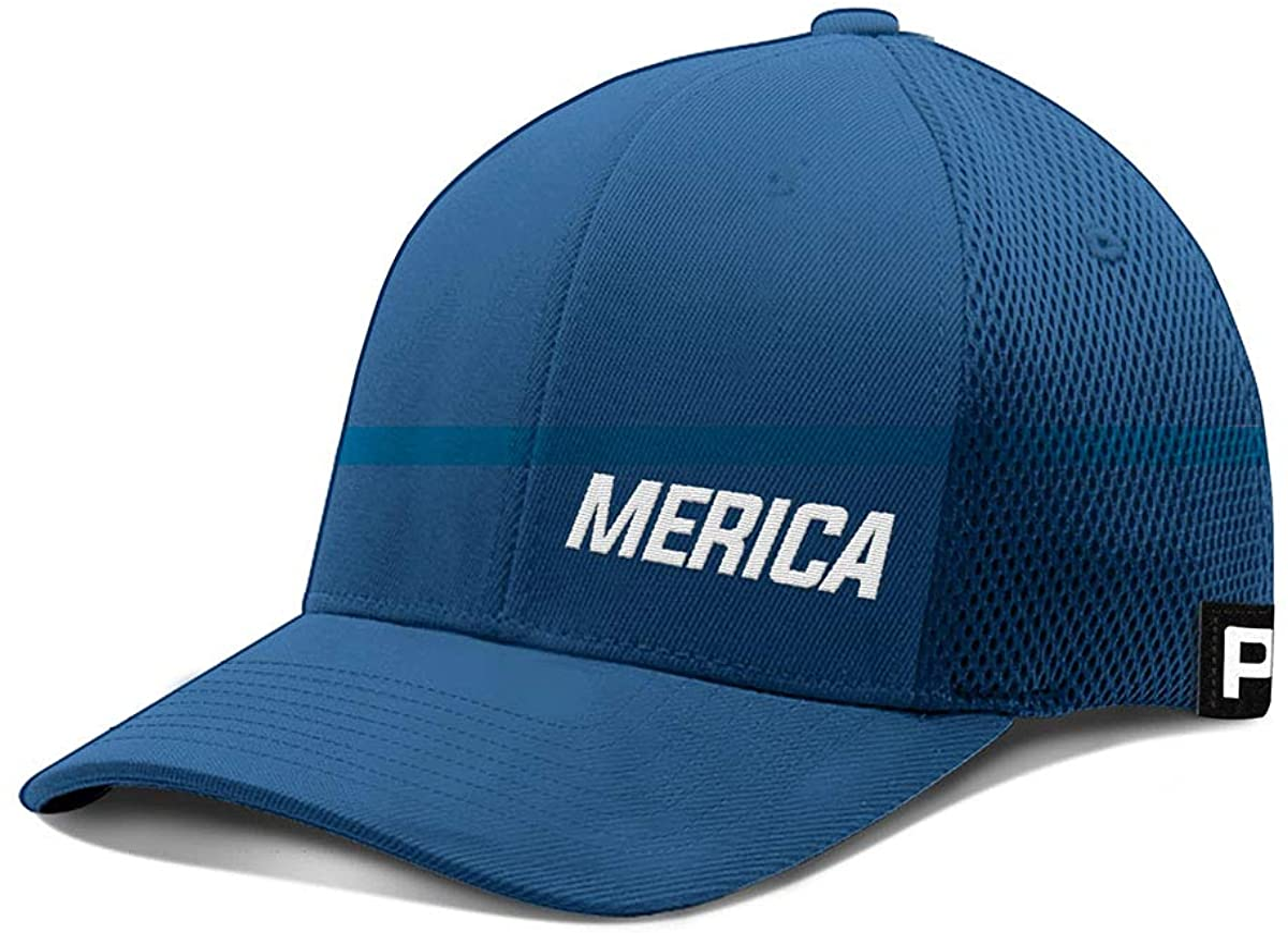Printed Kicks Merica Max 68% OFF Lower Left Hat Flex Baseball Sales Mesh B Cap Fit