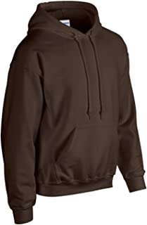 Gildan Dark Chocolate Hoodie Heavy Blend Blank Plain Hooded Sweat Sweater Mens