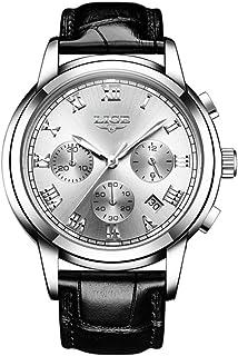 LIGE 9810L Men's Watches Leisure Fashion Business Waterproof Strap Watches Multi-Function Luminous Watch