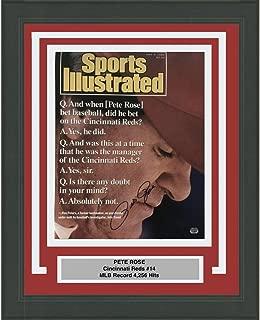 Framed Autographed/Signed Pete Rose Cincinnati Reds Sports Illustrated Cover 16x20 Baseball Photo Fanatics COA #3