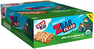CLIF KID ZBAR FILLED - Organic Granola Bars - Apple Almond and Cashew Butter (1.06 Ounce Energy Bars, Kids Snacks, 12 Count)