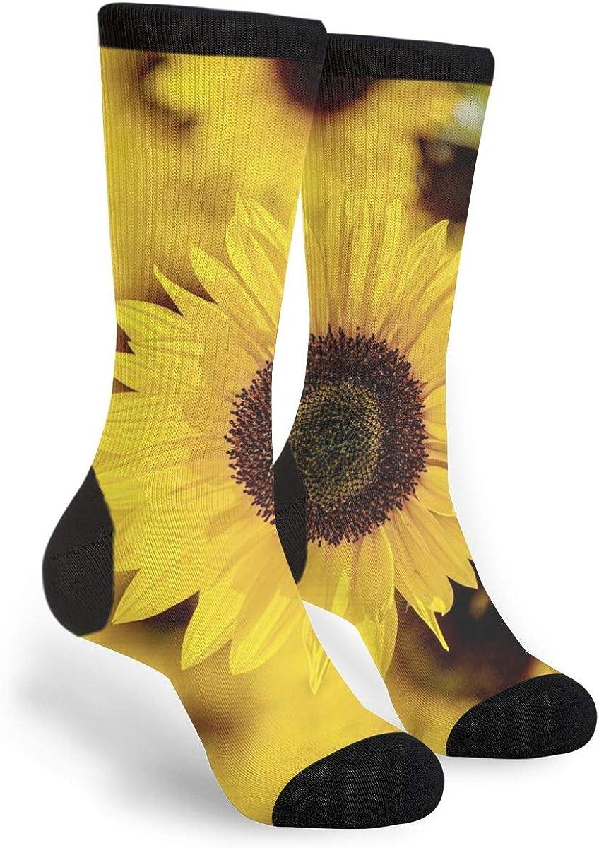 Sunflower Flower Yellow Dress Casual Socks - Fun Novelty Crew Socks,Gifts