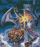 Dimensions Tamaño Juego de Punto de Cruz, Wizard IOTA Illustration