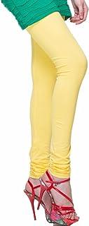 Ladyline Plus Size Premium Soft Long Cotton Churidar Leggings with Double Stitches Plain Size XXL