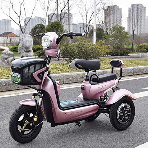 Smx Viajes eléctrico de Tres Ruedas Scooter eléctrico Triciclo, Individual Doble Ocio...
