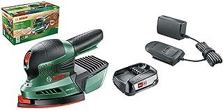 Bosch PSM 18 LI Cordless 18 Volt Li-Ion Multisander + Home and Garden 1600A020RW Bosch Battery and Charger Starter Set PBA...