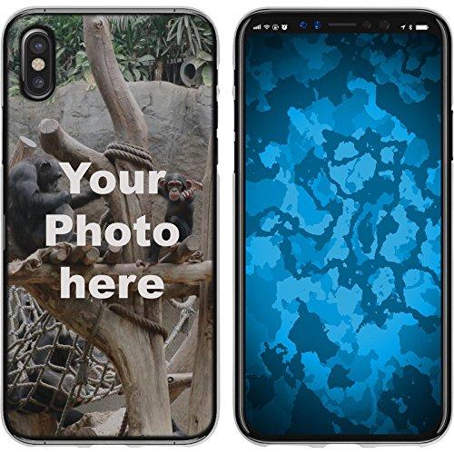 PhoneNatic Case kompatibel mit iPhone X/XS Personalisierte Handyhülle Clear zum selbst gestalten mit eigenem Foto