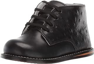 Josmo Baby Unisex Walking Shoes First Walker, Black Ostrich, 3.5 Medium US Infant