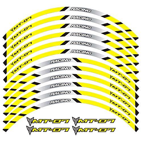 Etiqueta engomada reflectante de las motocicletas para motocicletas Pegatinas de ruedas para TRACER 700 900 850 MT07 MT09 MT-07 MT-09 (Color : 5)