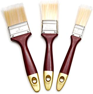 Hometeq - 2 inch, 1.5 inch, 1 inch Paint Brushes Designed Latex or Oil Based Paints for Indoor or Outdoor with Comport Han...