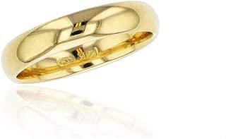DECADENCE 10K or 14K Yellow & White Gold 4mm Polished Plain Wedding Band, Size 4-14