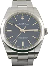 Rolex Date-39 Blue Dial Steel Mens Watch 114300
