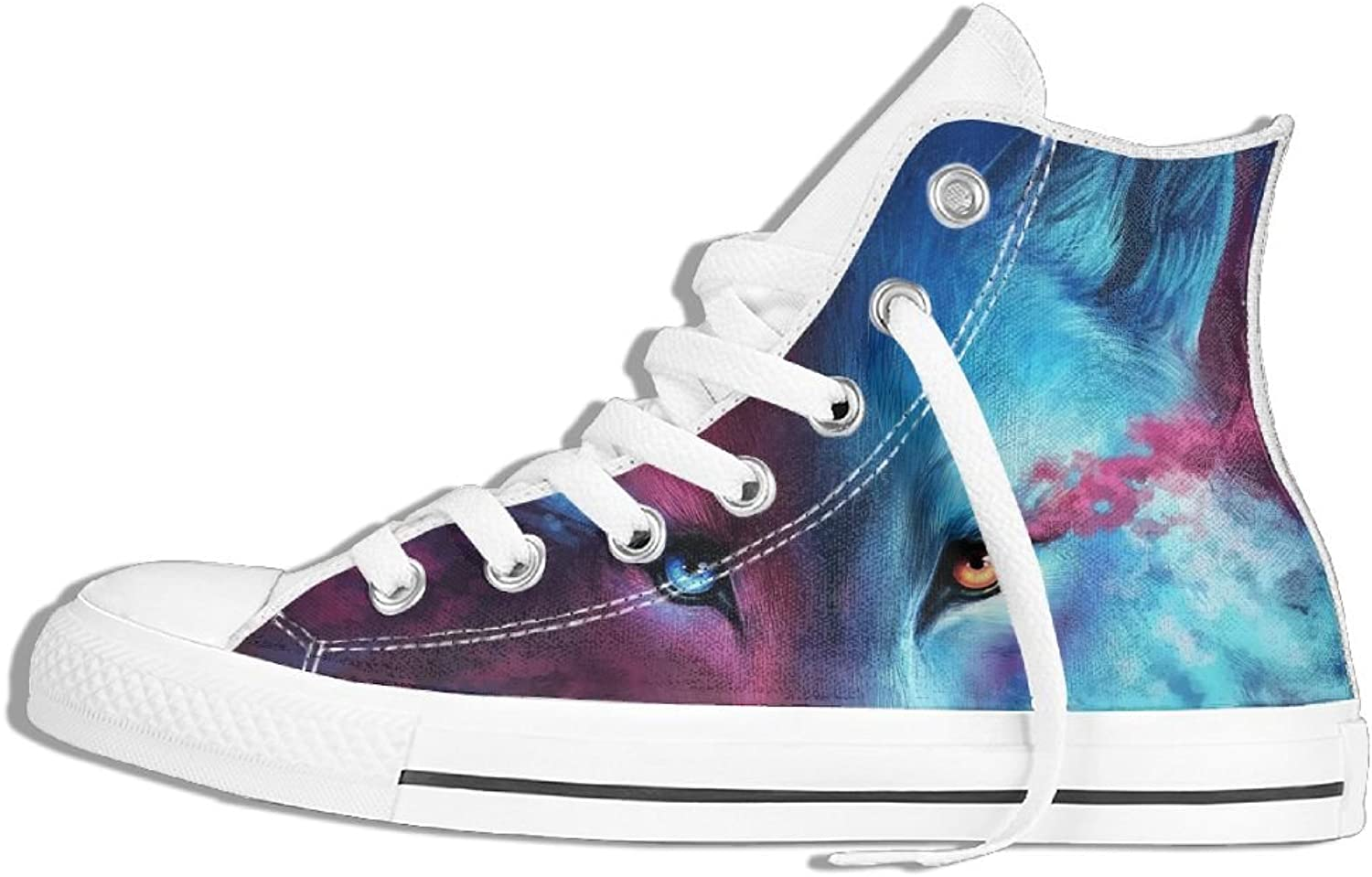Galaxy Wolf High Top Classic Casual Canvas Fashion shoes Sneakers For Women & Men