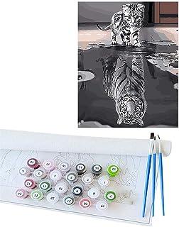 DIY Peinture À L'huile Par Le Nombre de Kit, Artisanat D'art pour Adultes Filles Enfants Décorations Cadeaux Animaux