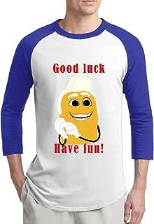 Sausage Party 2Q Mens Artist 100% Cotton 3/4 Sleeve Athletic Baseball Raglan Sleeves T-Shirt