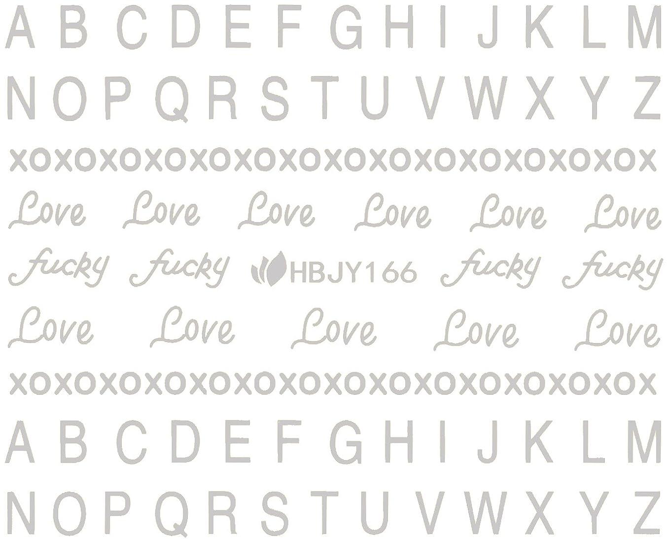 デマンド岸マナーネイルシール アルファベット 文字 パート2 ブラック/ホワイト/ゴールド/シルバー 選べる44種 (シルバーSP, 29)
