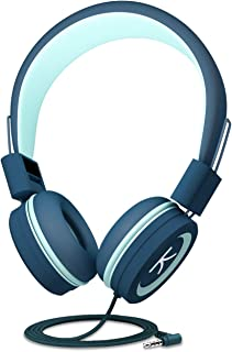 KidMoments K12 Kids Headphones with 85dB Volume Limited Hearing Protection,Made of Food Grade Material,BPA-Free,Tangle-Free Cord, Wired On-Ear Headphones for Children,Toddler,Baby