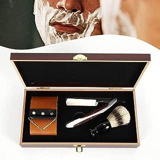 Men's Shave Kit Set Straight Razor Shaving Brush And Leather Strop Gift For Man,Men Grooming Kit Handsomely Gift For your Father, Husband, Boyfriend