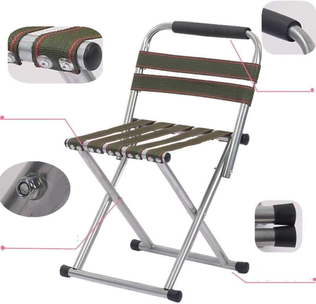 GQQ Chaise de Bureau, Tabouret Adulte Portatif Pliant Extérieur Petit Tabouret Épaissir La Chaise Pliante À La Maison,Noir Vert