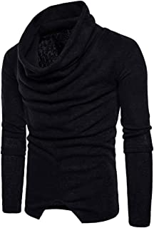 Men's Jumpers Turtleneck Basic Slim Sweatshirt Long-Sleeved Elegant Perfect Solid Color Warm Pullover Sweater Autumn Winte...
