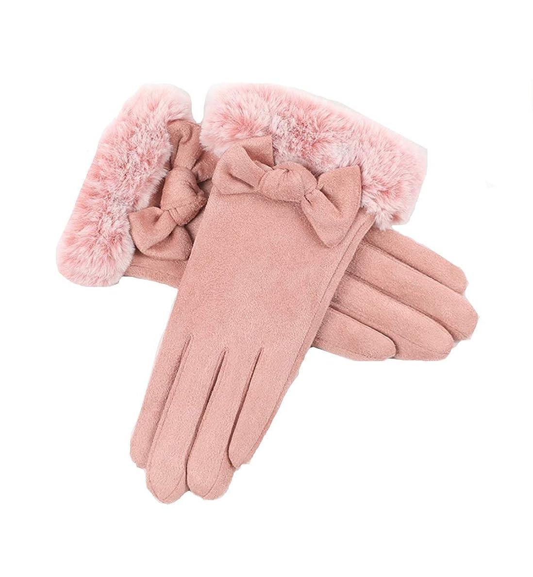 分布腕特異な手袋の女性の秋と冬のスエードプラスベルベットの厚手の手袋暖かいタッチスクリーン寒さと防風屋外の運転手袋
