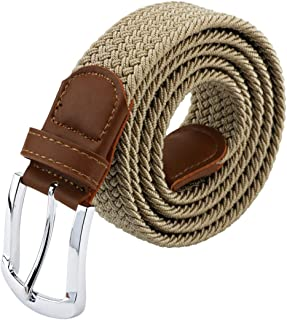 Belts For Men, Canvas Elastic Belt, Mens Womens Boys Belt For Father's Day