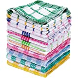 Patelai 12 Pieces Kitchen Dish Cloths Washable Cleaning Cloth Absorbent Dish Towels for Washing Dishes Wipe Glass Home...