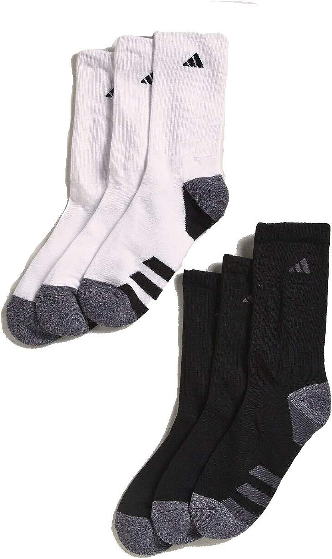 ADIDAS Boys Youth Athletic Sport Activity Cushioned Aeroready Drying Technology Crew Socks 6-Pack