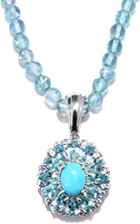 Sleeping Beauty Turquoise Pendant Necklace 20