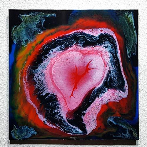 ORIGINAL Abstrakte Malerei Resin Kunst Bild Harz Gemälde Unikat HANDGEMALT - hochglanz Wandbilder direkt vom Künstler F.H. - Wohnung Deko Wohnzimmer - Werksnummer: Re 055