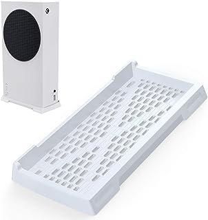 innoAura Vertikalt stativ för Xbox-serien S, Xbox-serien S-stativ med halkfria fötter och inbyggda kylventiler (vit)