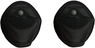 Kwnraor Nylon Handcuff Case, Open Molle Cuff Case Handcuff Pouch Holder for Chain or Hinged Cuffs (2 Pack)