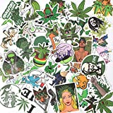Weed Stickers for Adults 50pcs - Supreme Sticker Packs for Adults - 100% Vinyl Marijuana Stickers Bomb- Laptop, Bumper, Water Bottles, Cool Stickers